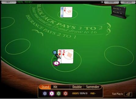 BetOnline Blackjack Table