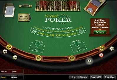 Drake Casino Tri Card Poker Table