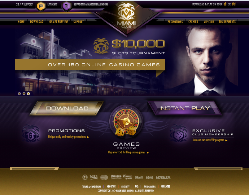 miami club casino online