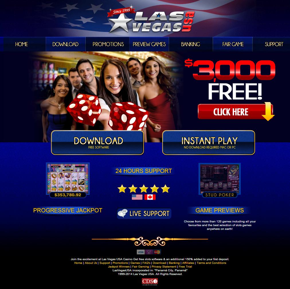 Las Vegas USA Casino Homepage